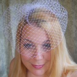 Basic Nine Inch Bird Cage Bridal Veil Blusher Veil Vintage Style